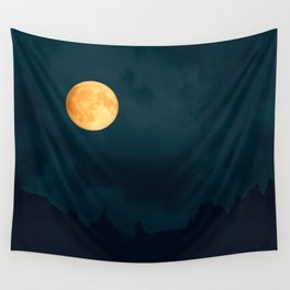 Full Moon Shines Overnight #decor #society6 #buyart #homedecor Wall Tapestry