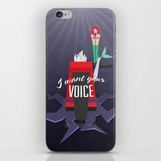 I want your VOICE iPhone & iPod Skin