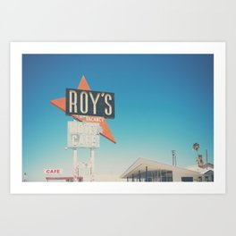 Roys Motel & Cafe ... Art Print