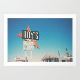 Roys Motel & Cafe ... Art Print