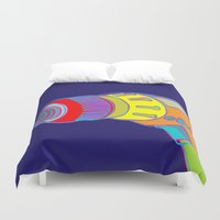 tool Duvet Covers featuring Power Tool by Paco Dozier