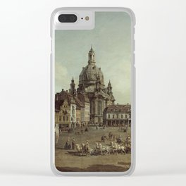 Bernardo Bellotto - View Of The Neumarkt In Dresden From The Judenhofe1749 Clear iPhone Case