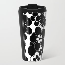 Black , white , mixed , patchwork Travel Mug