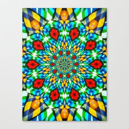 Folded Fabric Flower Canvas Print