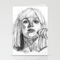 amy sia Stationery Cards featuring Sia Scribbles (Pen Art) by Aeriz85