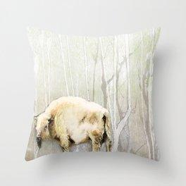 White Buffalo's Hollow Throw Pillow