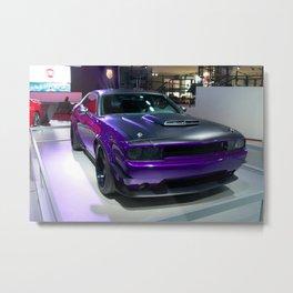Purple Challenger Hellcat Demon color photograph / photography / poster Metal Print