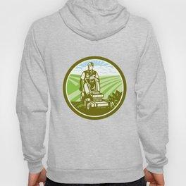 Ride On Lawn Mower Vintage Retro Hoody