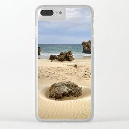 """Levante Wind"" BW. Tarifa beach Clear iPhone Case"