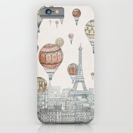 Voyages Over Paris iPhone Case
