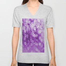 Bokeh Light Purple Tone #decor #society6 #buyart Unisex V-Neck