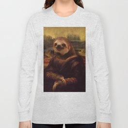 Sloth  Mona Lisa Long Sleeve T-shirt