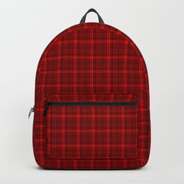 Red plaid Backpack