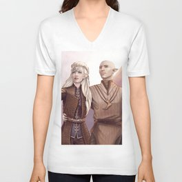 Dragon Age - Finding Skyhold - Solas and Inquisitor Unisex V-Neck