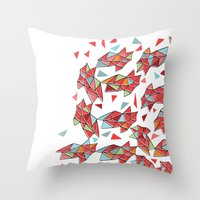triangles Throw Pillows featuring triangles by Matthew Taylor Wilson