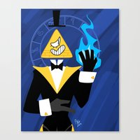 bill cipher Canvas Prints featuring Cipher by Palolabg