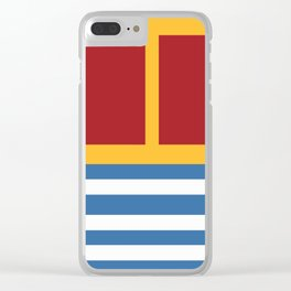 vintage primary colors Clear iPhone Case