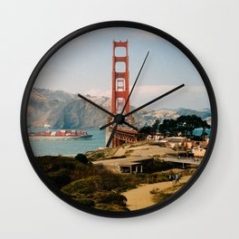 Golden Gate Bridge shot on film Wall Clock