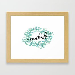 Thank you Mahalo from Hawaii Framed Art Print