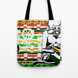 Ghandi and his Spinning Wheel Tote Bag