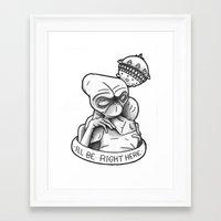 et Framed Art Prints featuring ET by Pixels & Paper