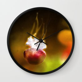 Jellyfish Through the Raging Fire Wall Clock