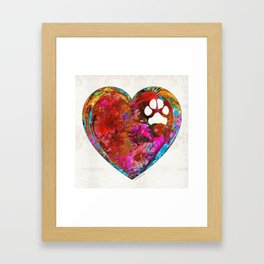 Dog Art - Puppy Love 2 - Sharon Cummings Framed Art Print