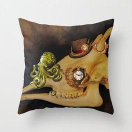 Steampunk Giraffe Throw Pillow