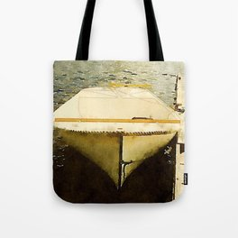 Dock and Dory, Lily Bay State Park, Maine Tote Bag