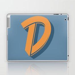 BOLD 'D' DROPCAP Laptop & iPad Skin