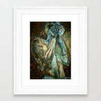 workout Framed Art Prints featuring The Workout by ASHe Levesque