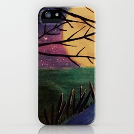 Moon reflection iPhone Case