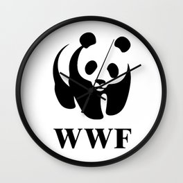 wwf logo Wall Clock