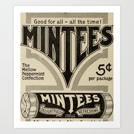 Mintees Art Print
