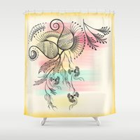 decorative Shower Curtains featuring Decorative Floral by famenxt