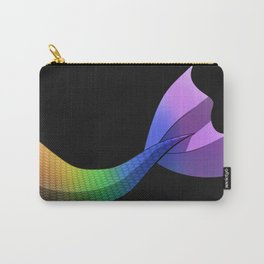 Rainbow Mermaid Tail V2 w/ Black Background Carry-All Pouch