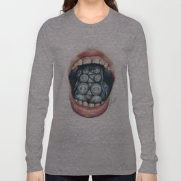 Cthulhu Lips Long Sleeve T-shirt
