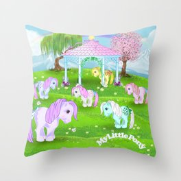 g1 my little pony collector ponies pagoda meadow Throw Pillow