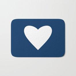 Navy Blue Heart Bath Mat
