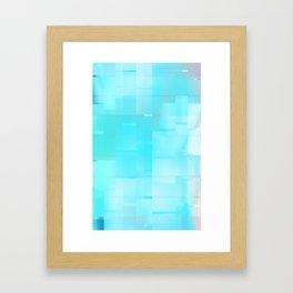 Frosted Windows Framed Art Print