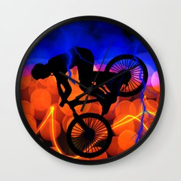 BMX in Light Crystals and Lightning Wall Clock