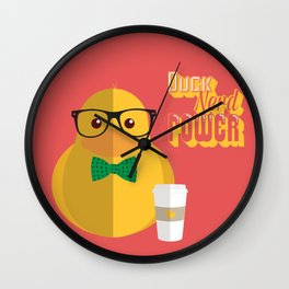 duck nerd power Wall Clock