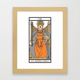 la justicia ciega Framed Art Print