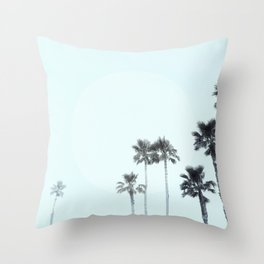 Tranquillity - aqua moon Throw Pillow