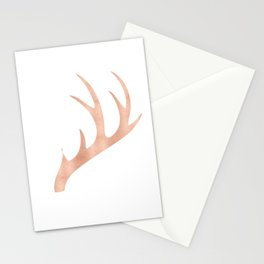 Antlers Rose Gold Deer Antlers Stationery Cards