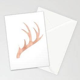 Antlers Rose Gold Deer Antlers Stationery Cards