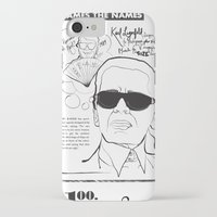 karl lagerfeld iPhone & iPod Cases featuring Karl Lagerfeld by CLSNYC