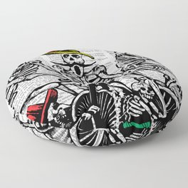 Calavera Cyclists Floor Pillow