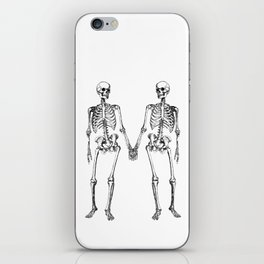 Two skeletons iPhone Skin