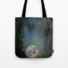 Always Kiss the Moon Goodnight  Tote Bag